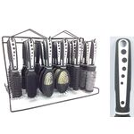 Plastic hair styling brush/comb