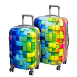 A2S Set of 2 trolley suitcases Sonic Cube