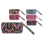 Women's wallet Ethnic Stripes