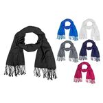 One-tone light scarf with fringes