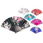 Plastic floral fan