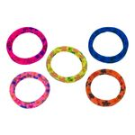 Fluo hair elastics with prints 5pcs 5cm