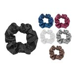 One-tone satin scrunchie 10cm