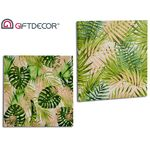 Canvas with leaf print in 2 designs