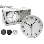 Round wall clock in 3 colors