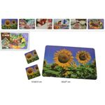 Place mat and 2 coasters set