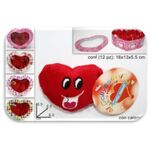 Stuffed heart magnet 2,5 cm diameter