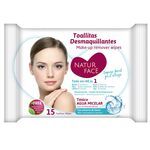 Makeup remover wipes with micellar water