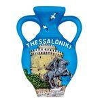 Ceramic souvenir magnet Thessaloniki