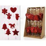 Χριστουγεννιάτικο στολίδι με παγιέτες σε κόκκινο χρώμα σε 8 σχέδια