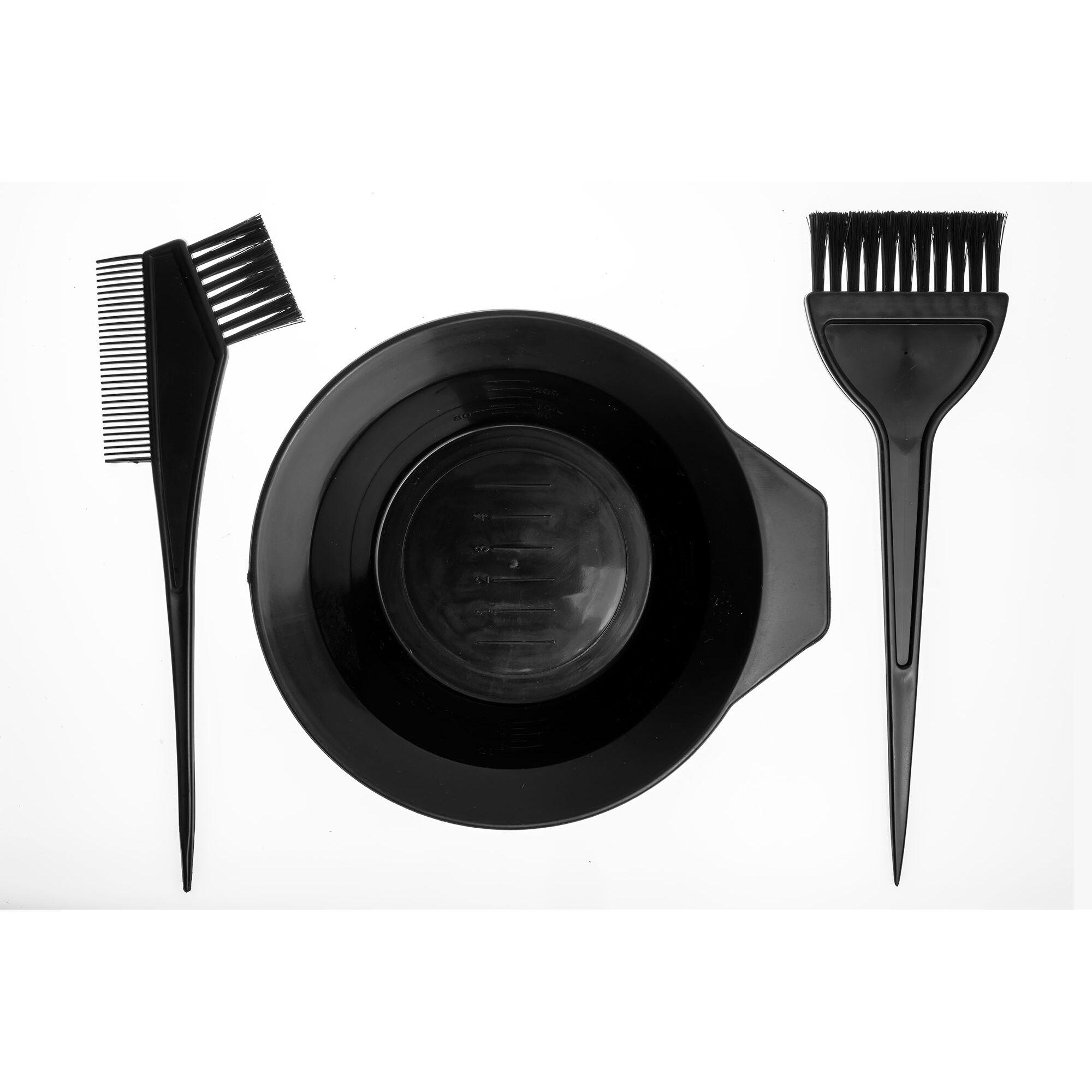 Hair Hair Colour Hair Dye Bowl And Brushes 3 Pcs Set
