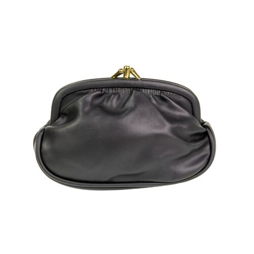 Women's black faux leather purse