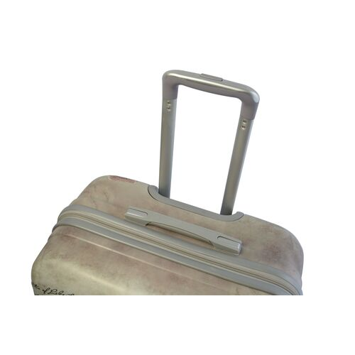 A2S Set of 2 trolley suitcases Soft Pink butterfly