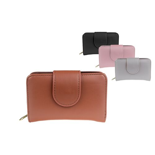 Women's wallet one-tone matte