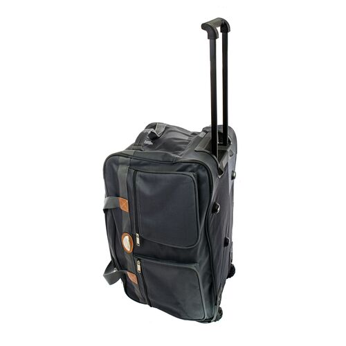 Trolley travel holdall with handle