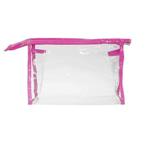 PVC waterproof vanity case with zipper 34x16.5cm