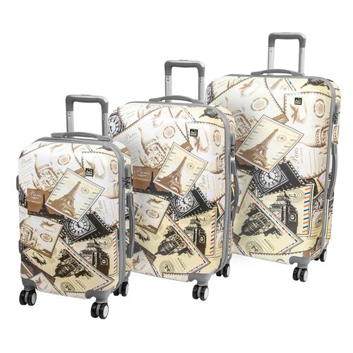 A2S Set of 3 trolley suitcases Postcards