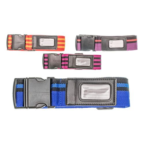 Suitcase strap with label 180cm