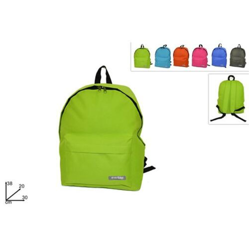 Coloured backpack with front case