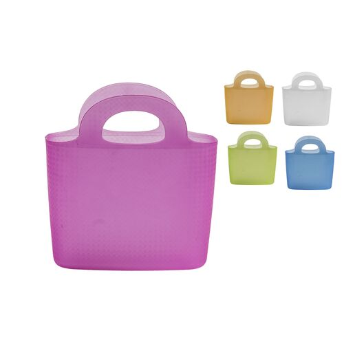 Basket with handles in 5 colors