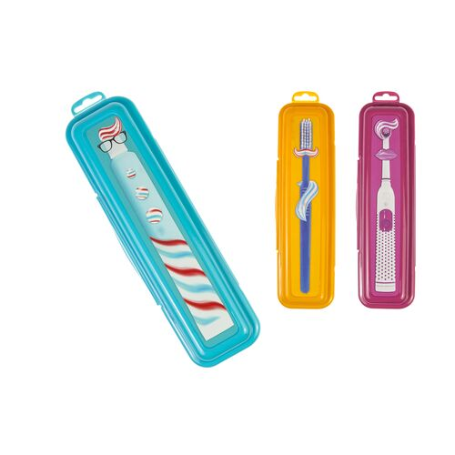 Toothbrush case in 3 colors