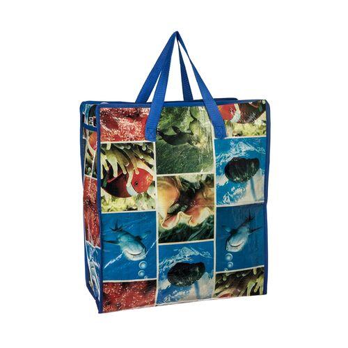 Shopping bag with zipper 44x40x17cm