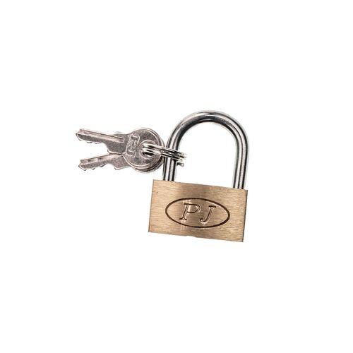 Metal padlock with key 30mm
