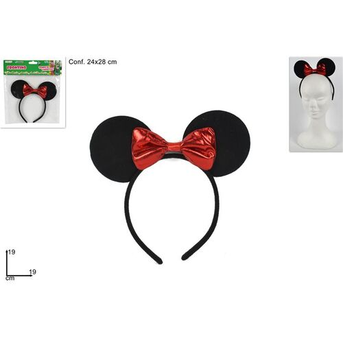 Masquerade hairband Minnie Mouse with red bow 19x19cm