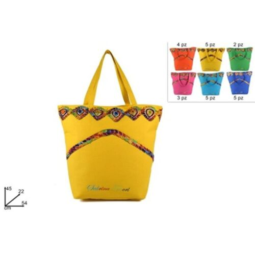 Sea bag with Indian details in 6 colors