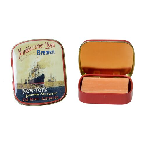 Vintage metal box for pills and candies