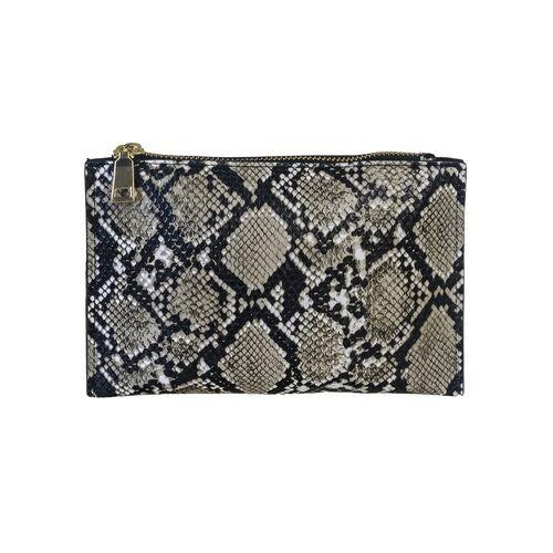 Vanity snake skin case 21x14cm