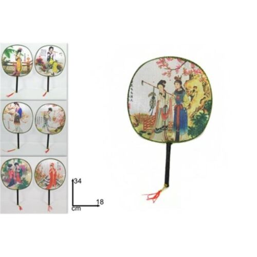Round Chinese fan 18x34cm