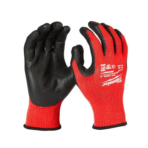 Working Nitrile gloves Red - Grey